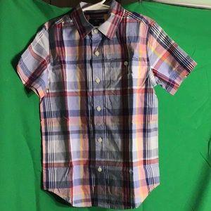 GapKids Boy's Short Sleeve Button Shirt Sz M(8-9)